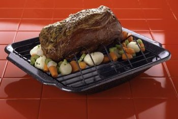 Cooking a rump roast on a rack lets the fat drip away.