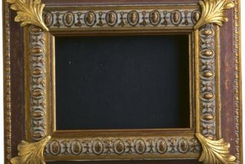 Experiment with a variety of paint treatments on your hand-embellished picture frames to make them appear centuries-old.