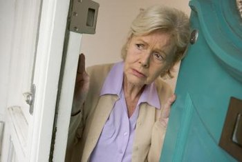 A door may need to be camouflaged to discourage seniors from opening it.