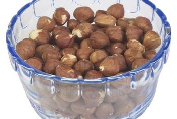 Most of the calories in hazelnuts come from heart-healthy mono and polyunsaturated fat.