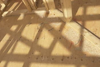Seal plywood flooring to prevent moisture penetration.