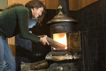 A strong draft in a wood stove chimney makes a hot fire.