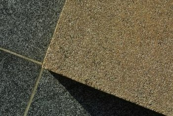 Large pieces of old granite can be cut into tiles for reuse.