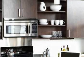 How To Paint Between Kitchen Cabinets A Countertop Home Guides - What kind of paint should you use on kitchen cabinets