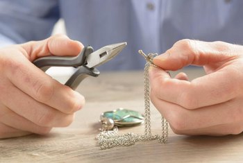 Use pliers to take jewelry apart and modify it.