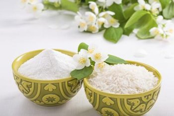 Rice flour is a gluten-free replacement.
