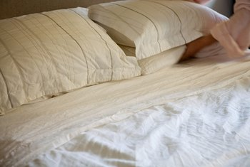 Check the comforter's dimensions to ensure it has enough drape on the sides and bottom.