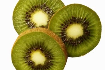 Tropical-looking kiwi fruits grow on cold-hardy vines.