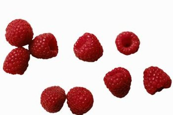 Raspberry varieties include red, black and amber-colored fruits.