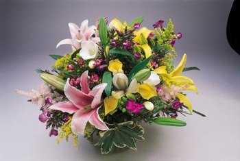 Many types of perennial flowers are used in bouquets.