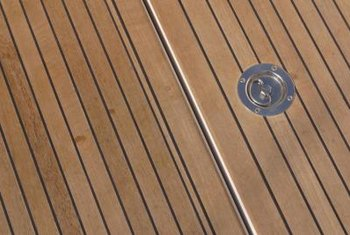Rot-resistant hardwoods are often used for outdoor applications, such as decking