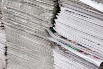 Both newspapers and magazines can go into mixed-paper recycling.