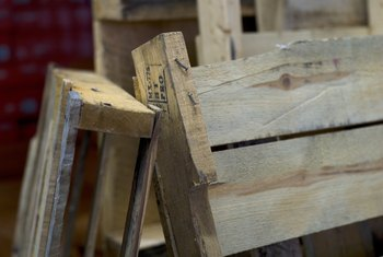 Pallet boards are usually imperfect, but you can salvage the usable ones.