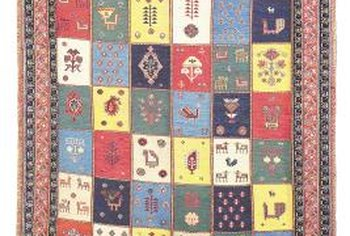A patchwork quilt graces your walls with folk art-inspired design.
