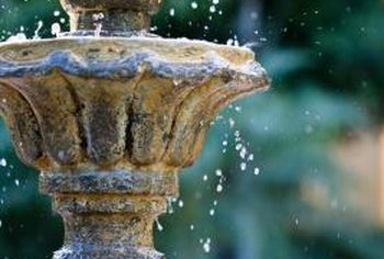 Fixing a fountain leak before the water runs dry avoids pump damage.