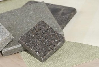 Granite has a less regular appearance than ceramic.