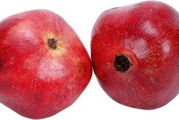 Angel Red pomegranates produce unusually juicy fruits.