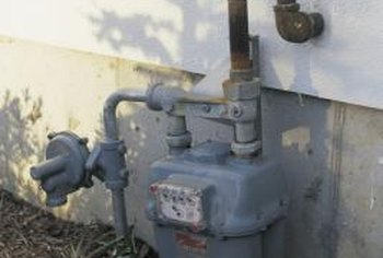 A gas meter doesn't brighten a landscape.