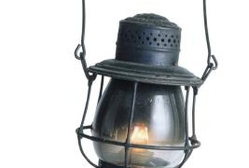 Kerosene lanterns were used as signal lights for the railroads.