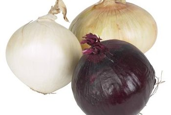 Color, size, variety and growing conditions distinguish onions.