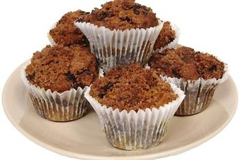 Bran muffins are a good source of dietary fiber.