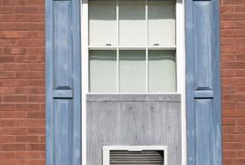 Window unit air conditioners fit in some types of apartment and house windows.