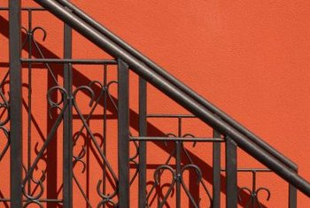 Metal step railings can accent your home if chosen carefully.