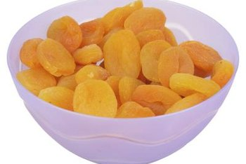 Dried apricots are high in potassium, fiber and iron.
