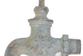 Create a one-of-a-kind fountain with an antique faucet.