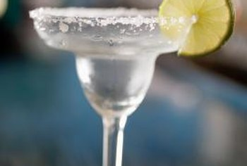 Most margaritas are made by salting the rim of the glass.