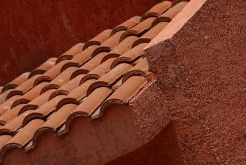 Clay ridge tiles resemble the crown portion of a full tile.