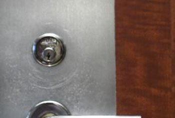 A lever style door knob offers a sleek modern look for your home.