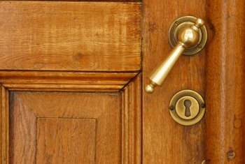 Mortise locks can be above or below the doorknob.