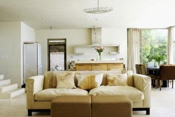 Here's an example of a beige sofa in a decor with warm neutrals.