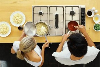 Downdraft exhaust cooktops filter smoky air and odors.