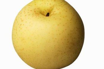 An Asian pear is rich in soluble and insoluble fiber.