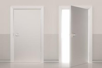 Interior doors can offer a blank design canvas.