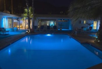 Replace worn swimming pool lights only if you are positive the electricity is off to the pool.