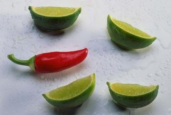 Spicy jalapeno peppers contain several tiny seeds called picante that season foods.