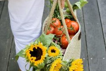 Flowers and vegetables are natural companions in the garden.
