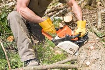 A well-maintained chainsaw starts easily and works efficiently.