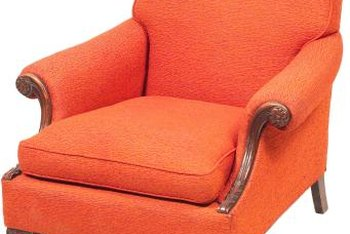 Bright orange or green furniture draws attention.