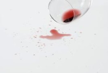 Treat red wine stains immediately for the best results.