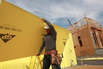 Rigid foam insulation is commonly used during house framing.