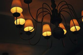 A new paint color can transform the look of lamp shades.
