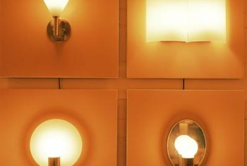 Wall-mounted light fixtures add needed light with a decorative touch.