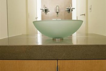 Vessel sinks are frequently made of acrylic.