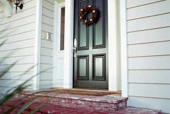 exterior door paint blue exterior acrylic paint protects your exterior door from the elements how to paint of front door home guides sf gate