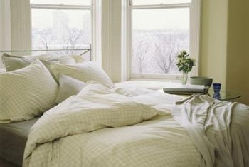Linen bedding remains crisp and clean with proper care.