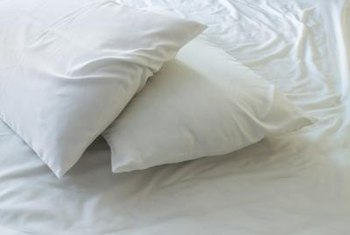 Even a new feather pillow has a bit of an odor; air it out.